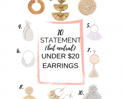 Amazon statement summer earrings