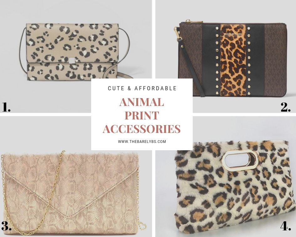 collage of animal print purses