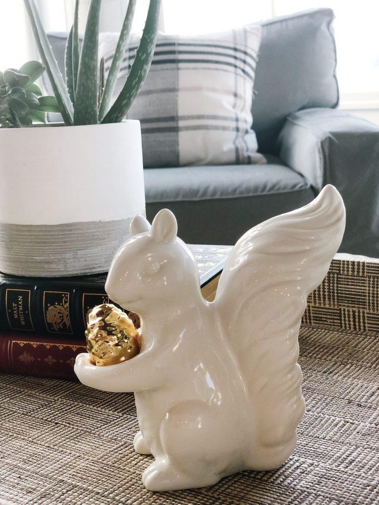 ceramic white squirrel