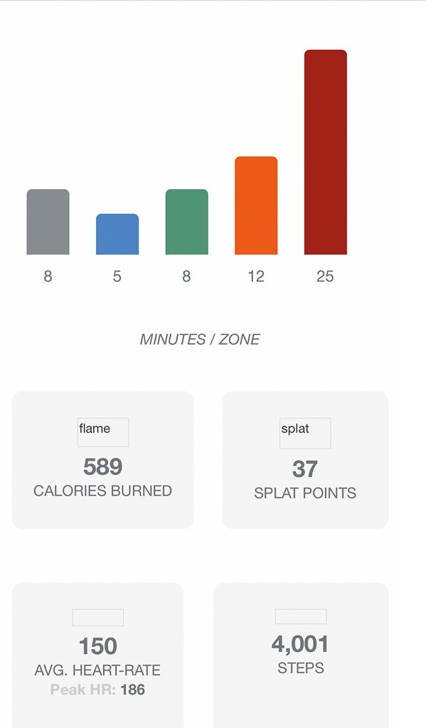 Orange Theory workout tracker