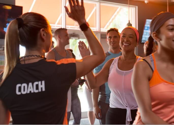 Orange Theory group workout