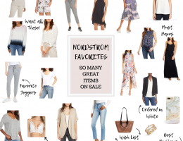 collage of clothing on sale at Nordstrom